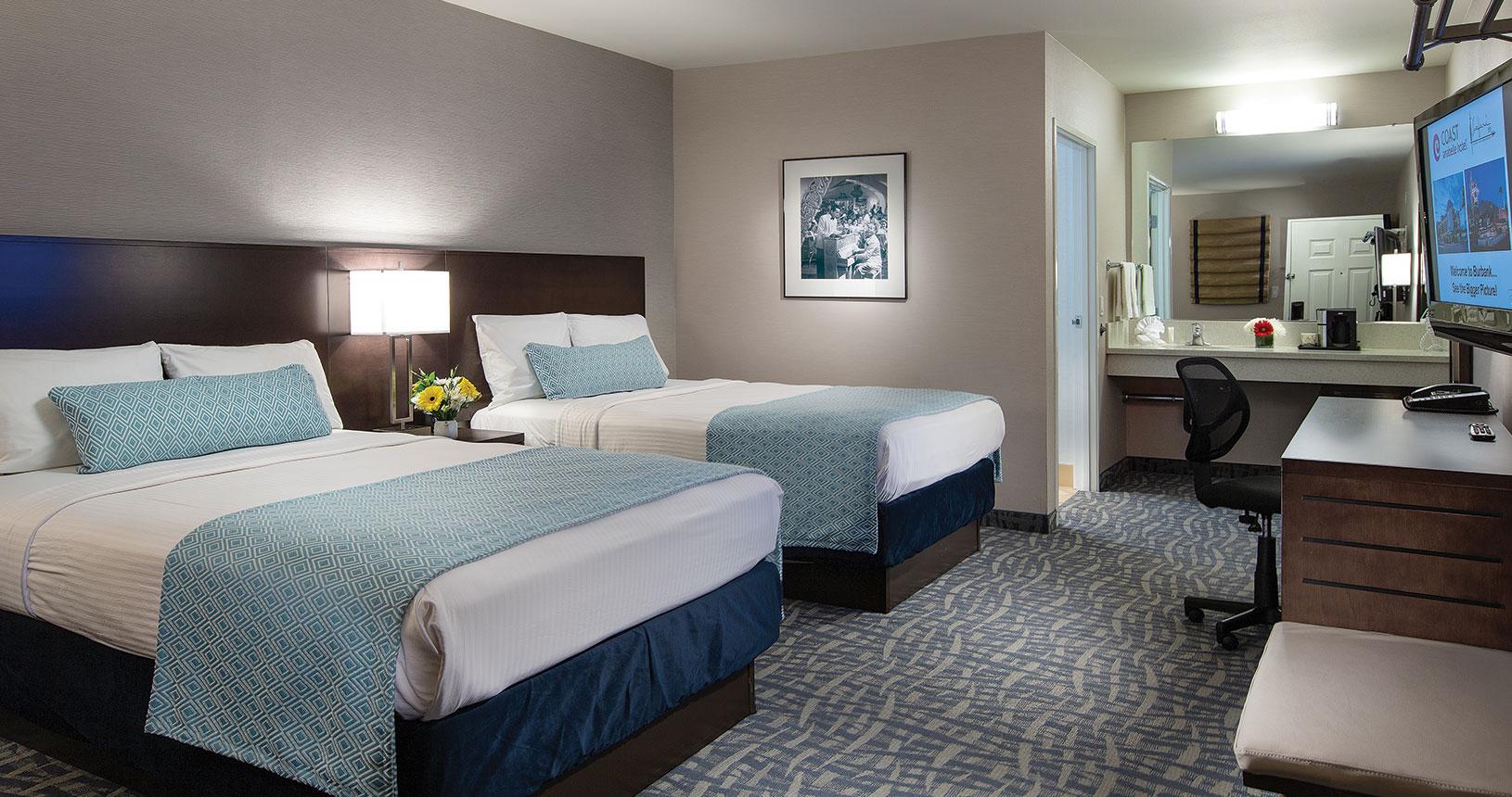 Safari Inn Burbank CA Coast Two Doubles